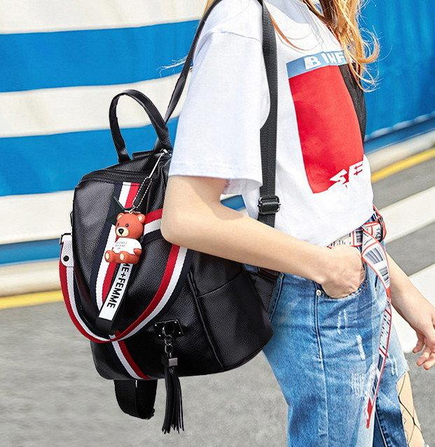 Стильный рюкзак Черный Белый Спорт