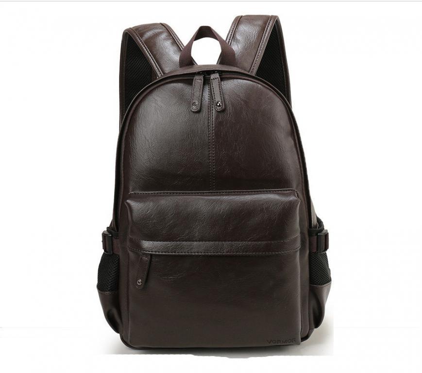 Стильный рюкзак унисекс Черный Коричневый Турист