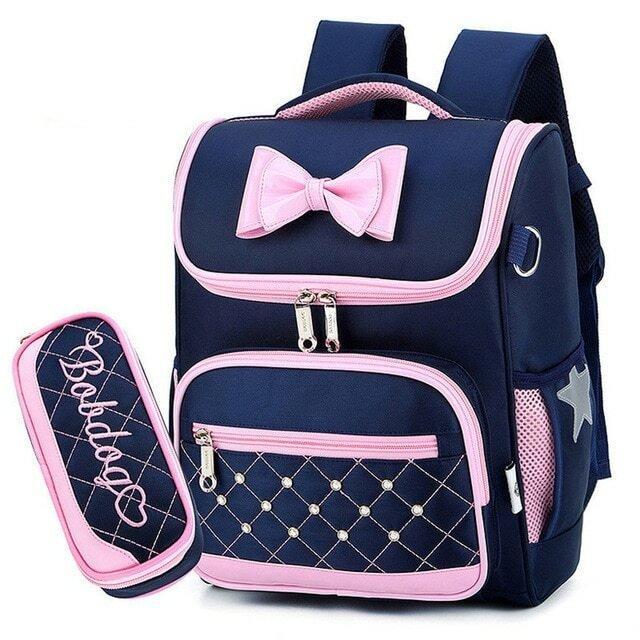 Модный рюкзак Ранец с пеналом для девочки 3 цвета Новинка Турист