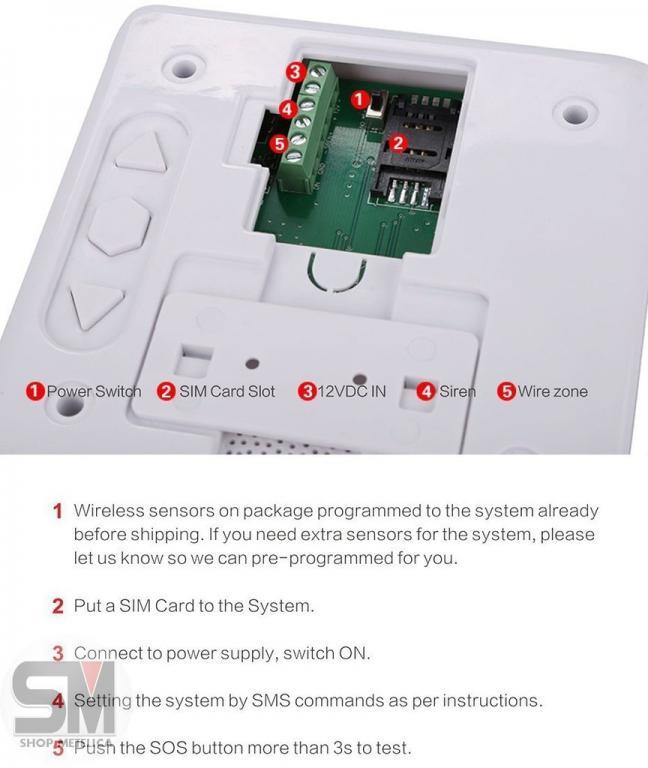 Cигнализация gsm термометр кнопка SOS M-10 для банков, офисов
