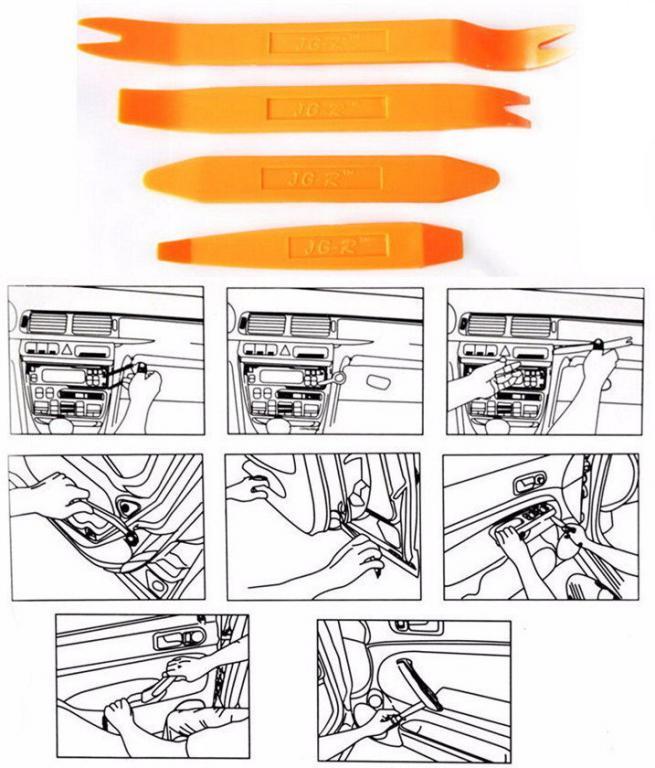 Съёмники панелей обшивки автомобиля