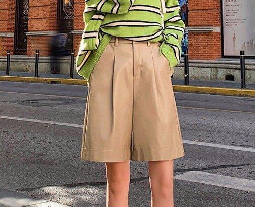Кожаные шорты Кюлоты 3 цвета Новинка