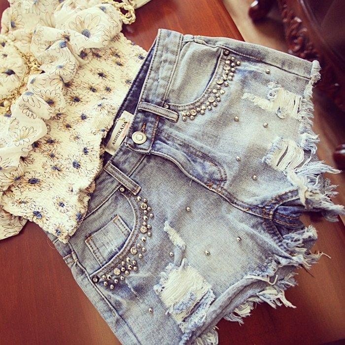 Шорты джинсовые Glamour