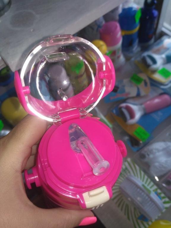 Детский термос, термос-поилка с трубочкой 500мл Миньоны