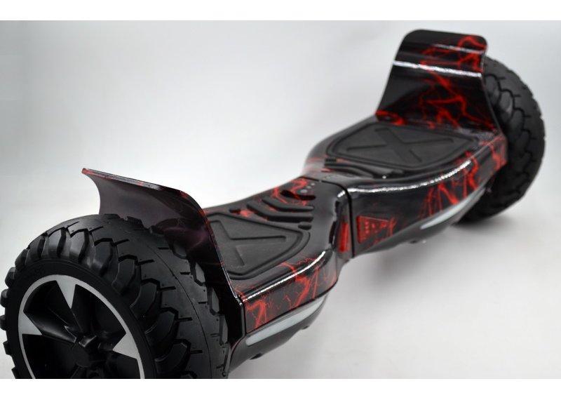 Гироборд 8,5 Hummer Молнии черно-красный