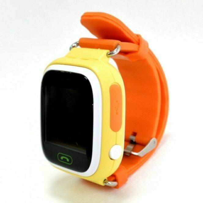 Детские смарт часы Smart Baby Watch Q80 Yellow желтые-оранжевые