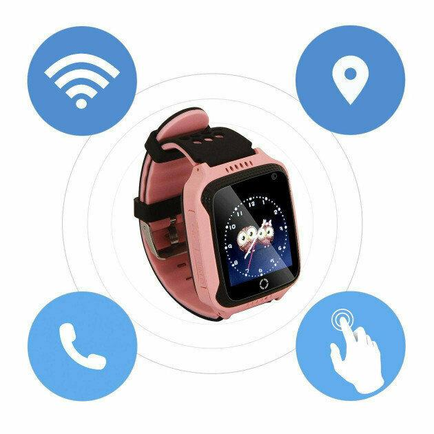 Детские умные смат часы M05 с GPS, фонариком и камерой Розовые и Голубые