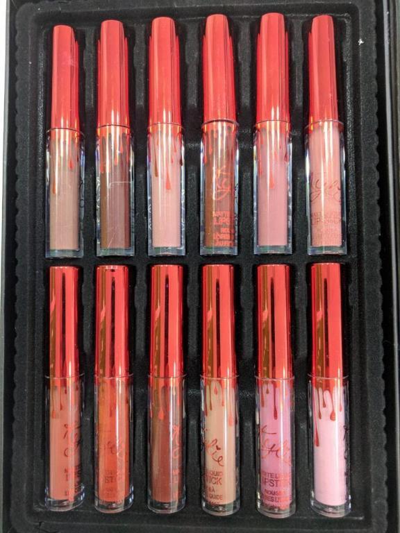 Набор стойких матовых помад - Kylie Matte Liquid Lipstick 12 шт