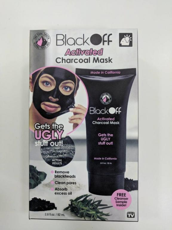 Маска-Пленка для очищения пор с древесным углем Black Off Activated Charcoal Mask