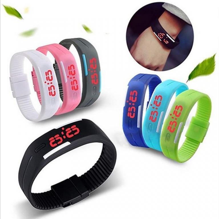 Часы Led детские Jelly Electronic Watch Black&White разные цвета
