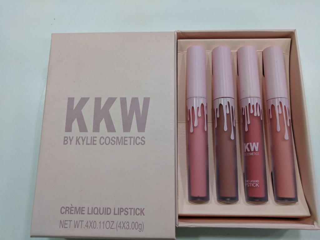 Помада - блеск для губ кремовая Kylie Cosmetics KKW Creme Liquid Lipstick
