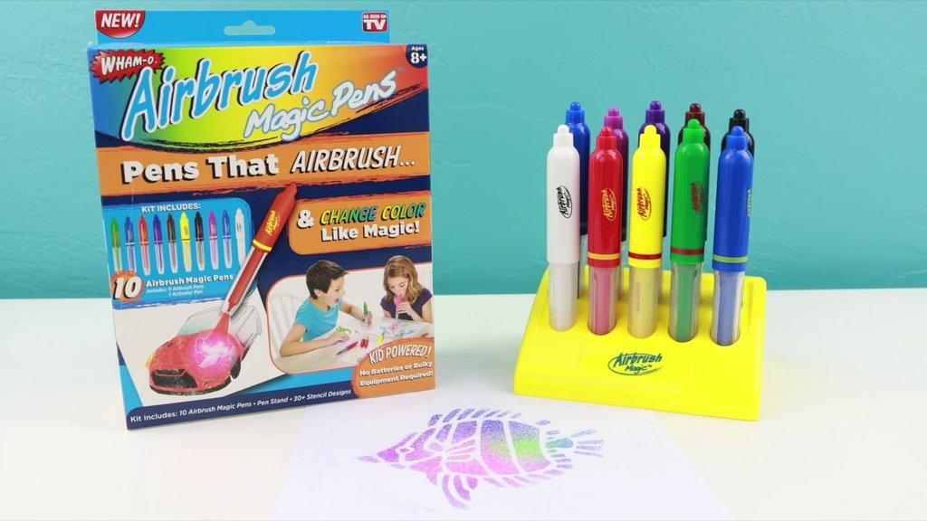 Волшебные фломстеры распылитель-трафарет - AirBrush Magic Pens Wham-O