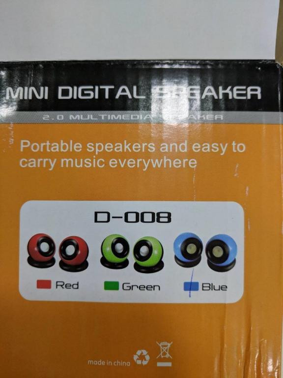 Колонки для компьютера D-008