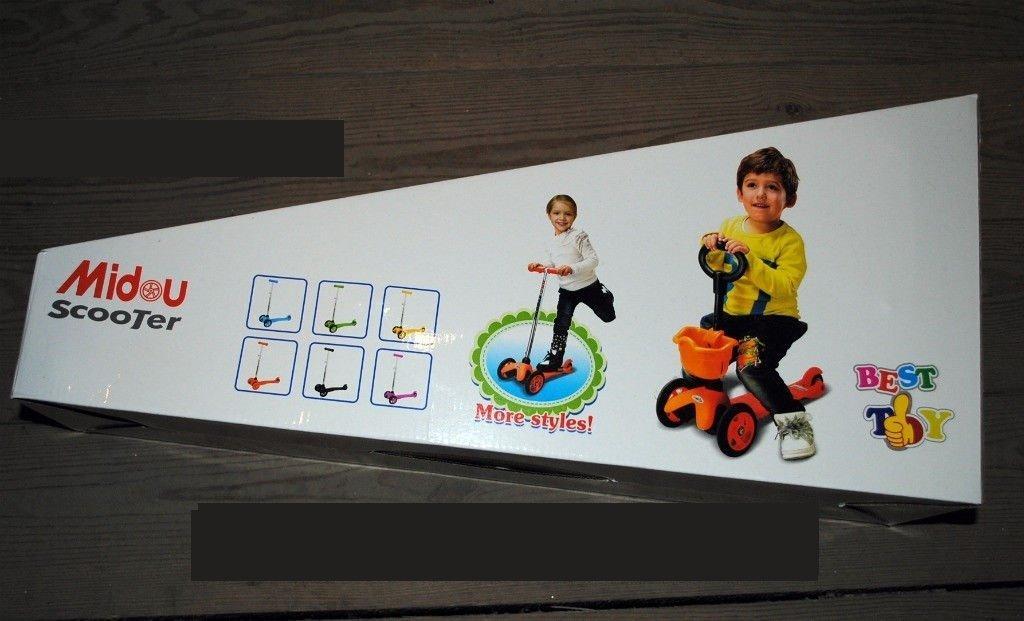 Детский трехколесный самокат-беговел Midou Scooter
