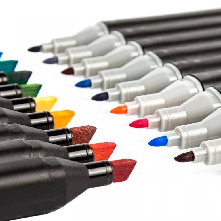 Набор двухсторонних маркеров для рисования и скетчинга Touch, 24 цвета