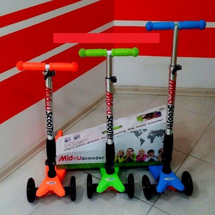 Самокат детский складной ScooTer Midou - трехколесный самокат