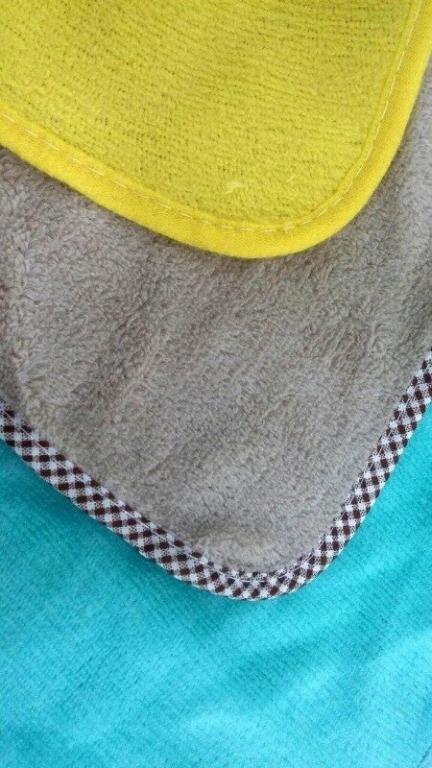Детское полотенце для лица и рук Желтый утенок,Голубой слоник,Коричневый зайчик