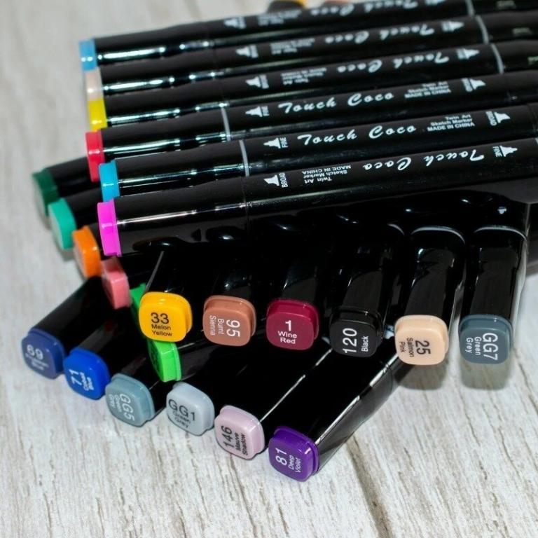 Набор спиртовых маркеров для рисования и скетчинга Touch, 36 цветов перманентные маркеры
