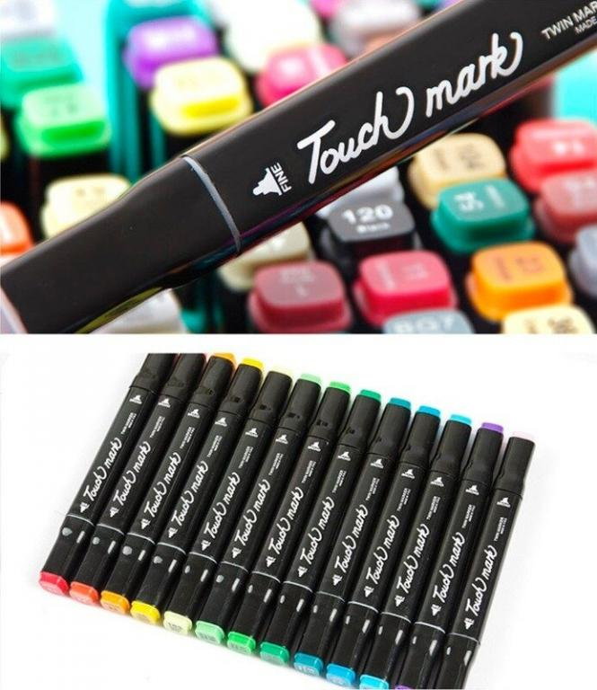 Набор скетч-маркеров Touch Raven, 48 шт. - маркеры для скетчей и рисования