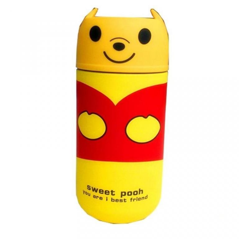 Детский термос Зверюшки 250 мл. Совушка, Панда, Мишка, Винни-Пух