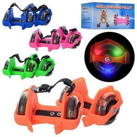 Ролики на пятку Flashing Roller Flash roller светящиеся ролики