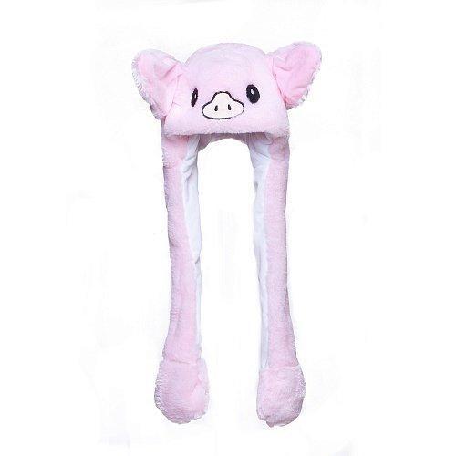 Шапка с двигающимися ушами - шапка для девочки свинка