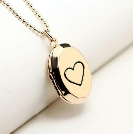 Медальон на цепочке Сердце медальон для фото