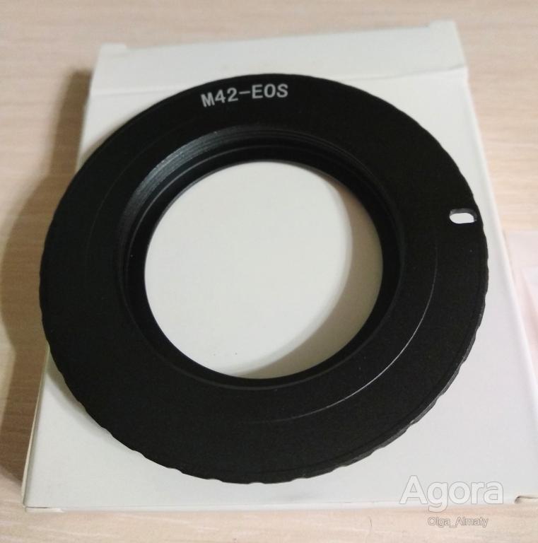 Переходник (адаптер) на Canon М 42 EOS с чипом, на Кэнон
