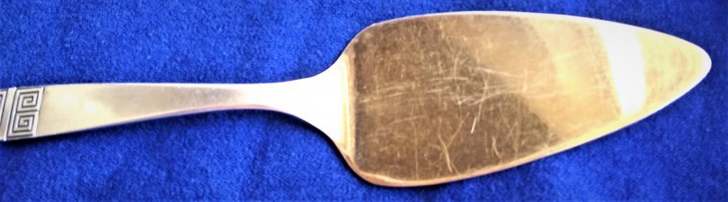 Серебряная лопатка для торта СССР