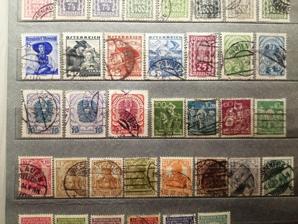 Почтовые марки  Германии и Австро-Венгрии 20х, 30х годов