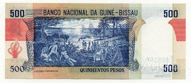 ГВИНЕЯ-БИССАУ  !! 500 песо 1983 г !! UNC !!