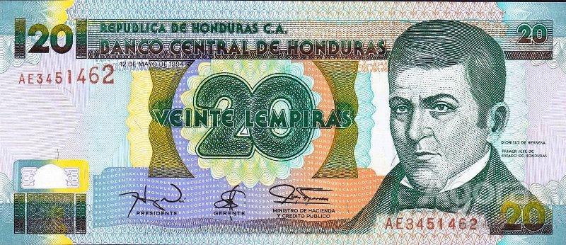 Гондурас !!  20 лемпира 1994 г !!!  UNC !!